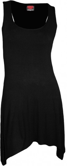Női ruha - Goth Bottom Camisole Dress Black
