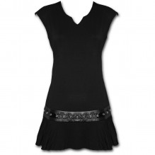 Női ruha GOTHIC ROCK - Stud Waist Mini Dress