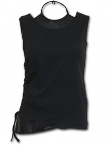 Női Top GOTHIC ROCK - 2in1 PU Leather Vest